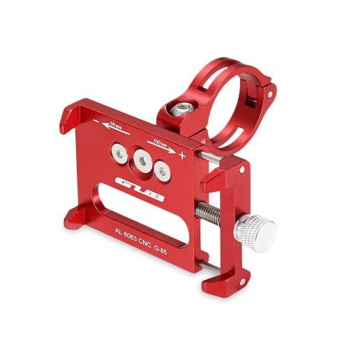 Βάση κινητού τηλεφώνου Gub G-85 από αλουμίνιο 55-100mm για ηλεκτρικό σκούτερ ή ποδηλάτου κόκκινη - 2