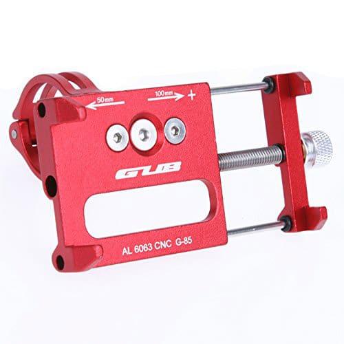 Βάση κινητού τηλεφώνου Gub G-85 από αλουμίνιο 55-100mm για ηλεκτρικό σκούτερ ή ποδηλάτου κόκκινη - 4