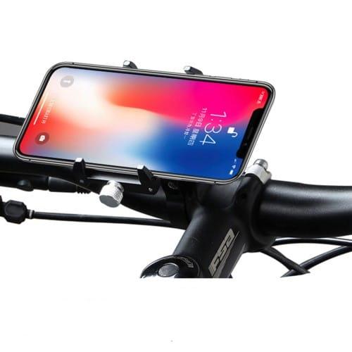 Βάση κινητού τηλεφώνου αλουμινίου GUB Pro 1 AT759 50-100mm για ηλεκτρικό σκούτερ ή ποδηλάτου μαύρη