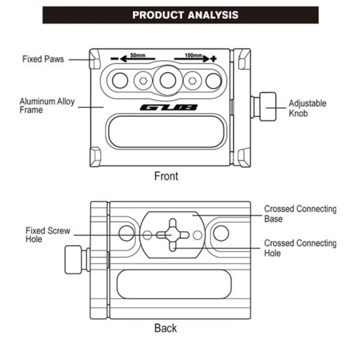 Βάση κινητού τηλεφώνου από αλουμίνιο G-85 55-100mm για ηλεκτρικό σκούτερ ή ποδηλάτου μαύρη