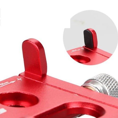 Βάση αλουμινίου κινητού τηλεφώνου GUB PLUS 9 55-100mm για ηλεκτρικό σκούτερ ή ποδηλάτου κόκκινη